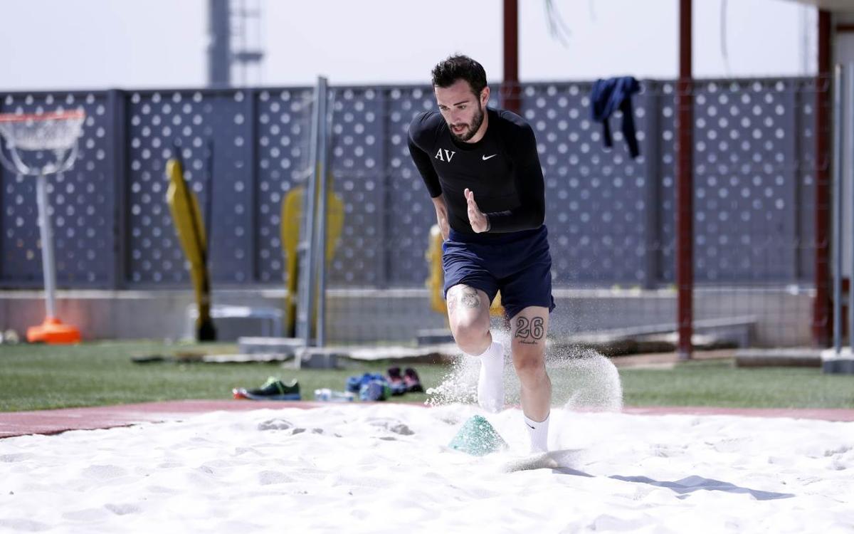 Aleix Vidal continua amb la seva recuperació