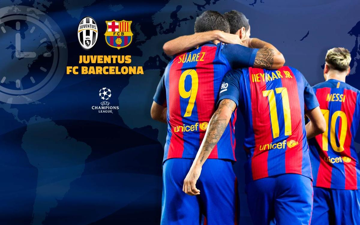 When and where to watch Juventus v FC Barcelona