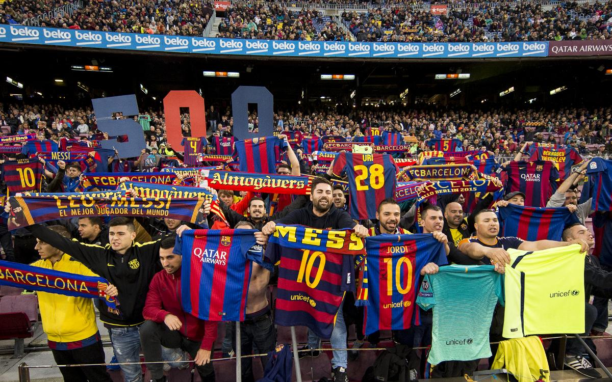 See how FC Barcelona prepared for the Lionel Messi 500 goal tribute at Camp Nou