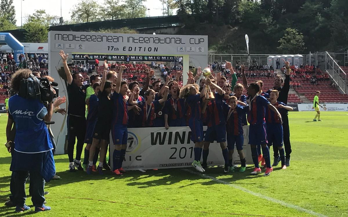FC Barcelona's U14A side are MIC champions