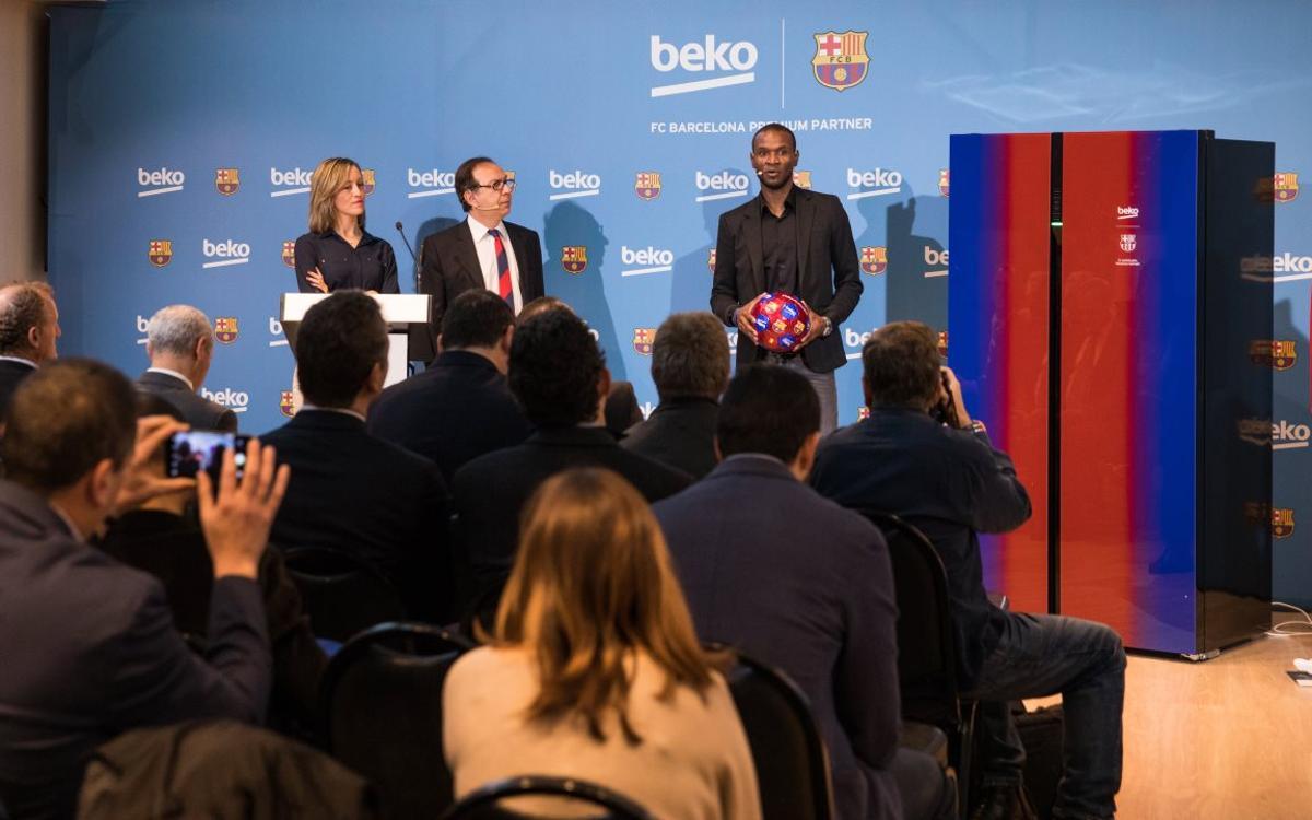 Beko presenta su nueva gama de frigoríficos inspirados en los colores del FC Barcelona
