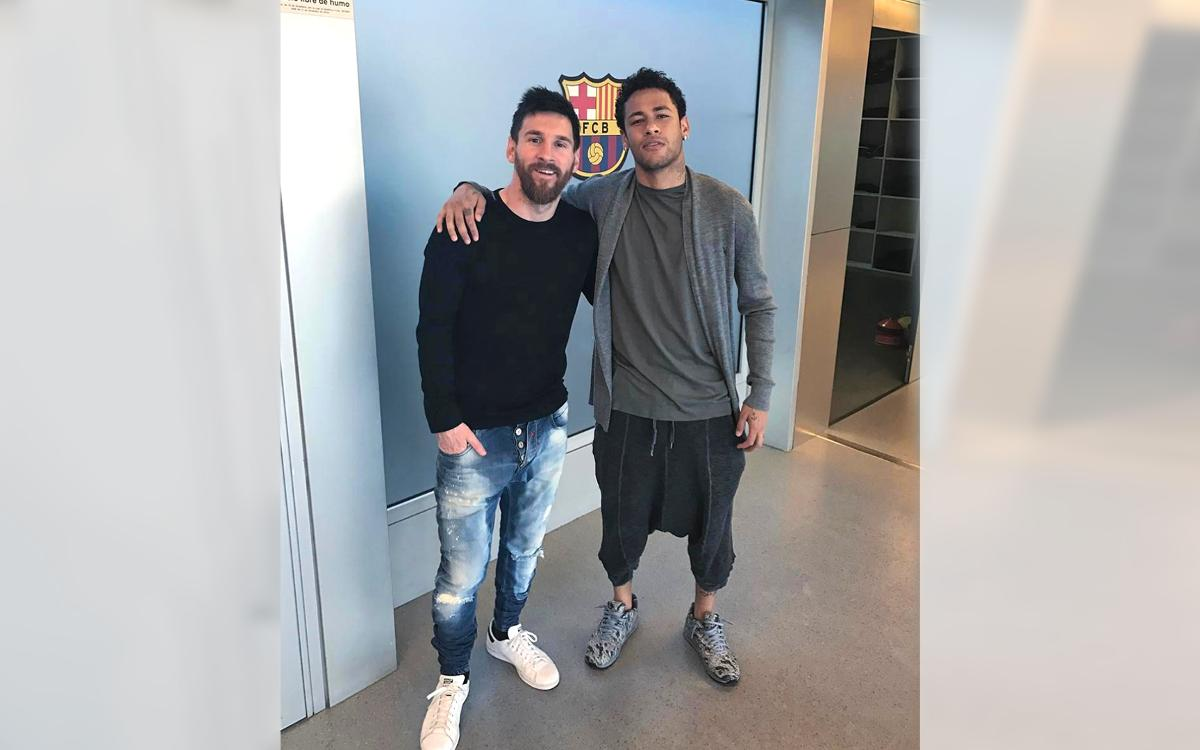 Messi and Neymar, ready for the challenge ahead