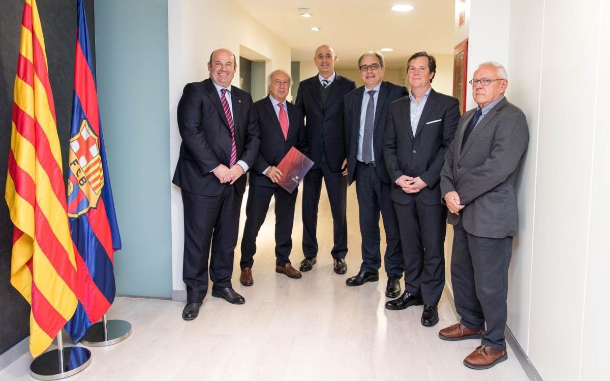 El Espai Barça firma un convenio de colaboración con la asociación y el colegio de ingenieros industriales de Catalunya