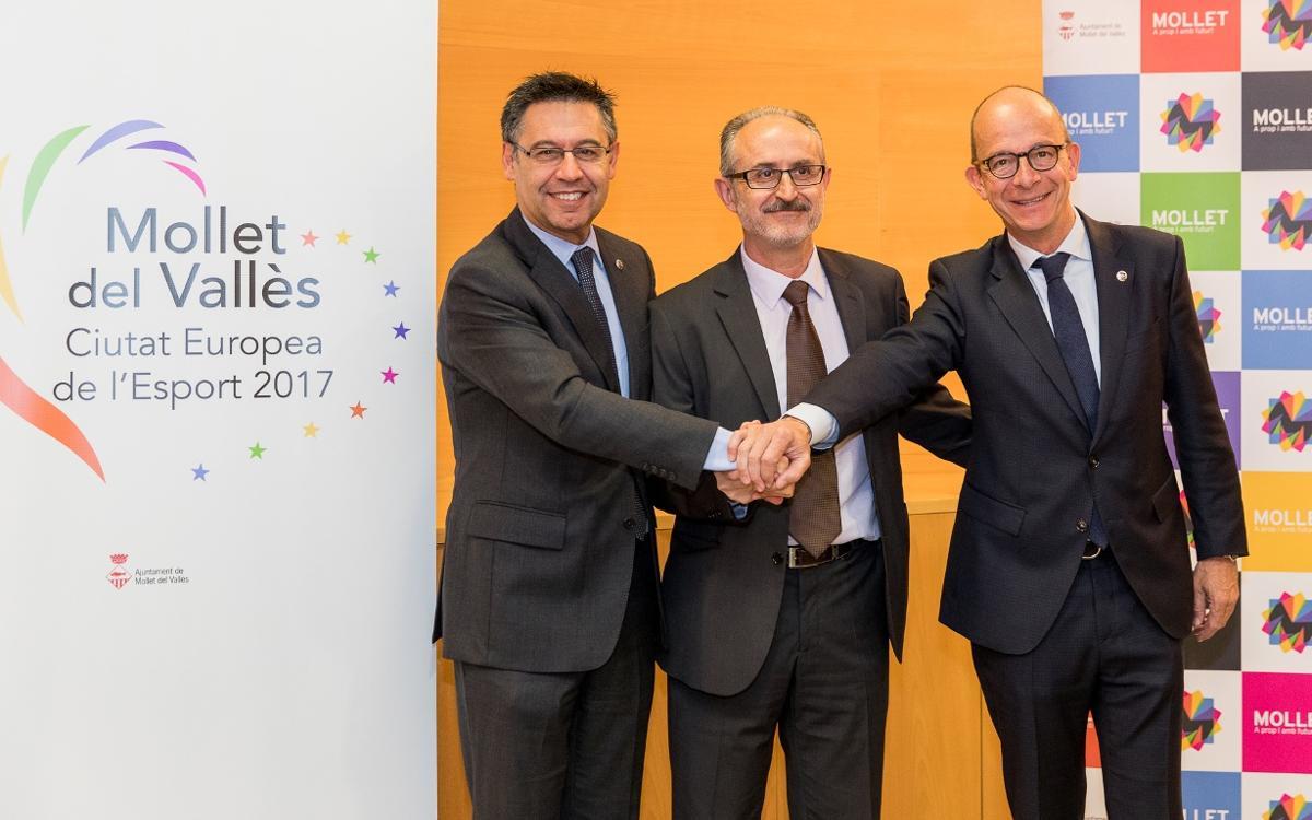 El FC Barcelona, amb Mollet 'Ciutat Europea de l'Esport 2017'