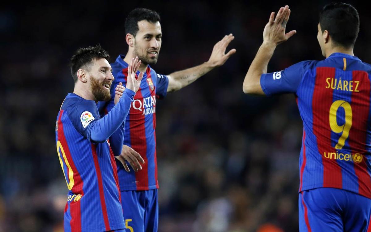 FCバルセロナ– スポルティング・デ・ヒホン : まずはゴールリサイタル ! (6-1)