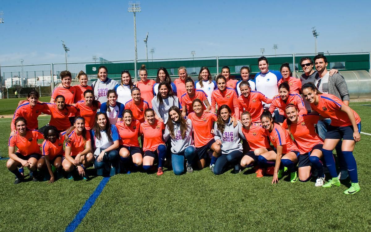 El Club Natació Sabadell y el Barça Femenino unen fuerzas antes de la Champions
