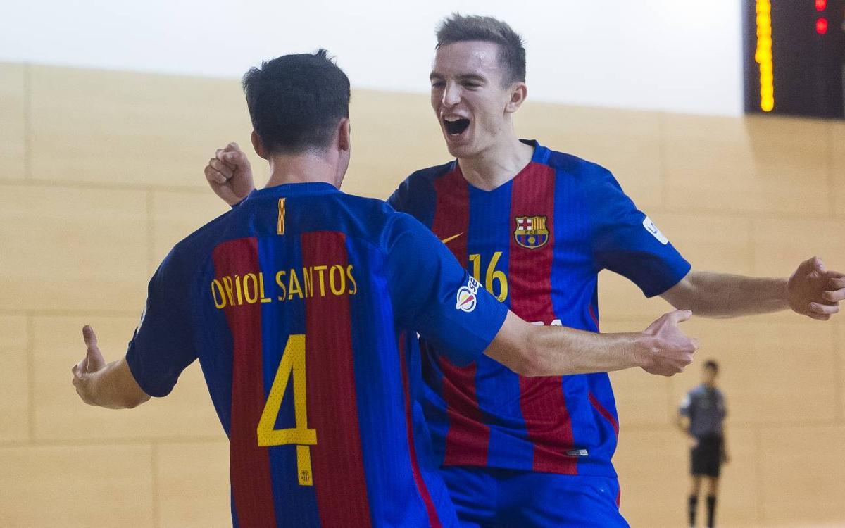 El Barça B atropella al Antequera y se acerca al título de liga (9-1)