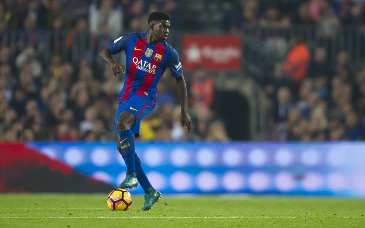Umtiti consigue el récord de pases buenos en la Liga