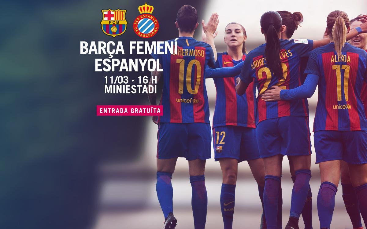 FC Barcelona Femenino - RCD Espanyol (previa): Tarde de derbi en el Mini