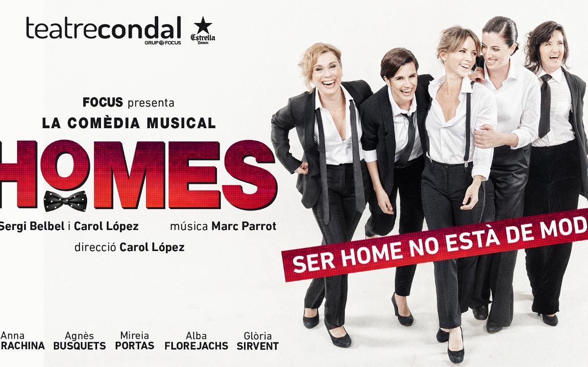 'Homes, la comèdia musical' al Teatre Condal amb descompte per als socis
