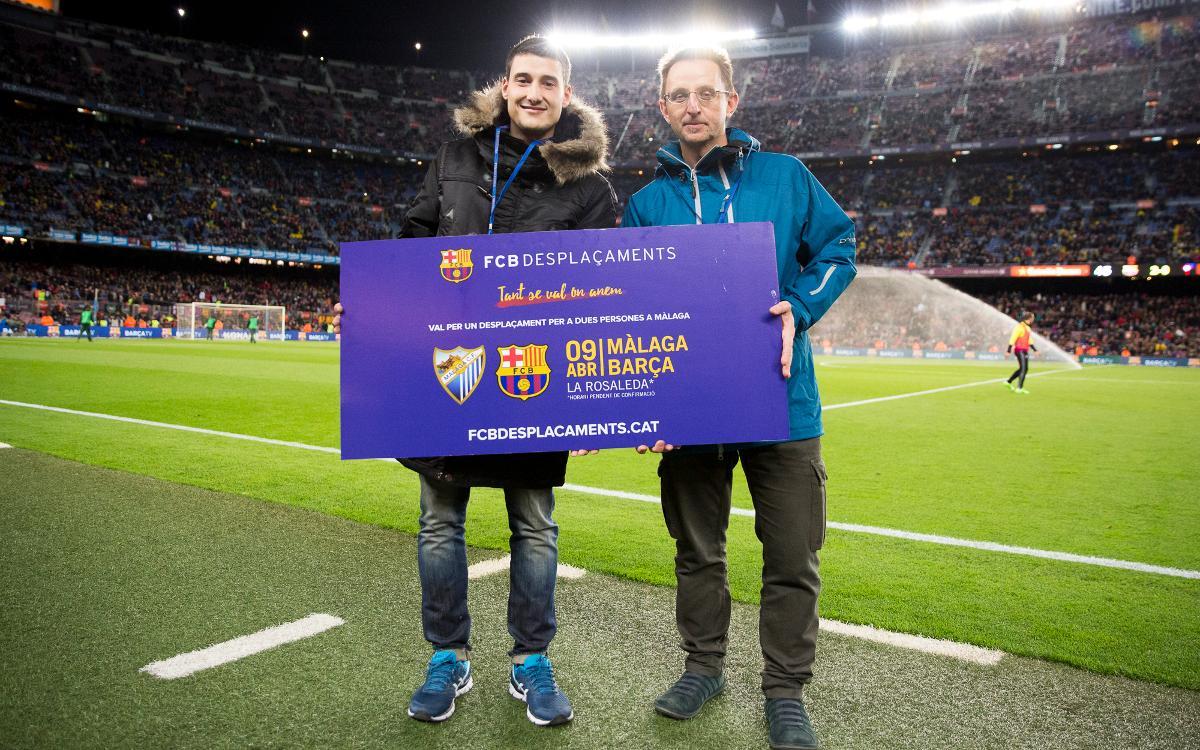 Guanyadors dels sortejos del desplaçament al Calderón