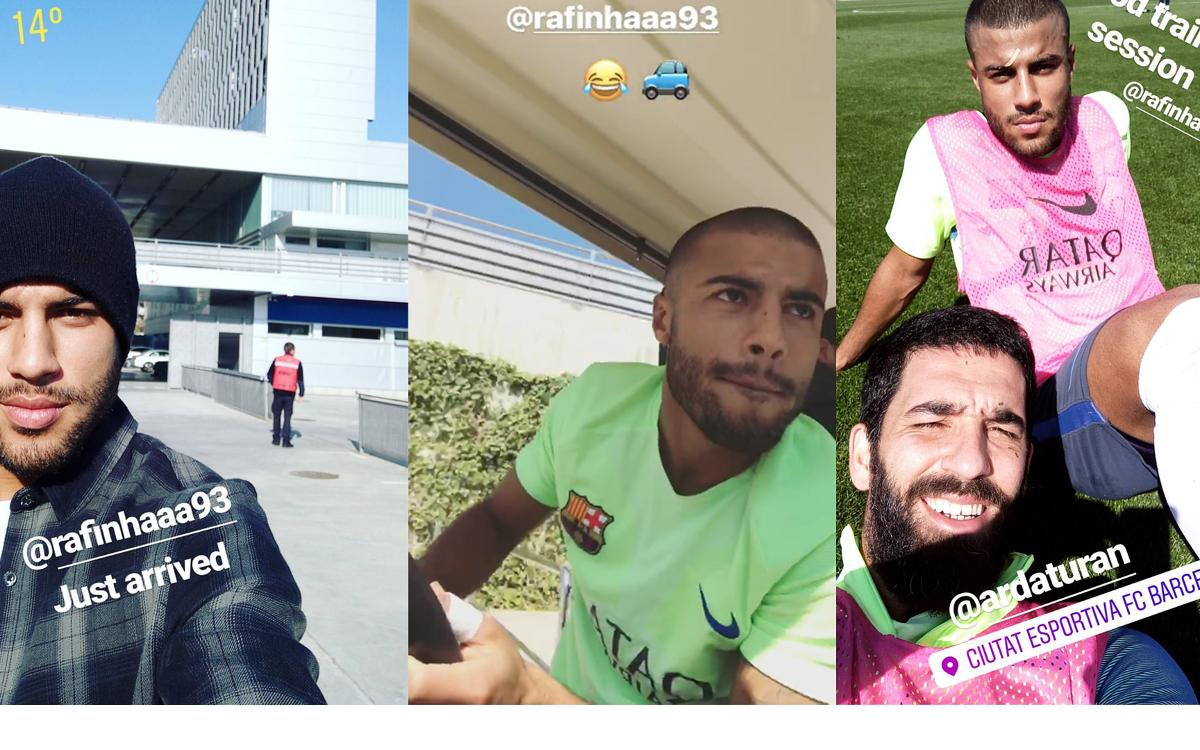 A day with Rafinha at Ciutat Esportiva