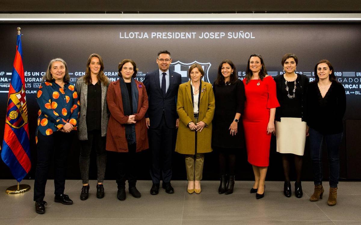 El Barça celebra el Dia Internacional de les Dones a la Llotja President Suñol