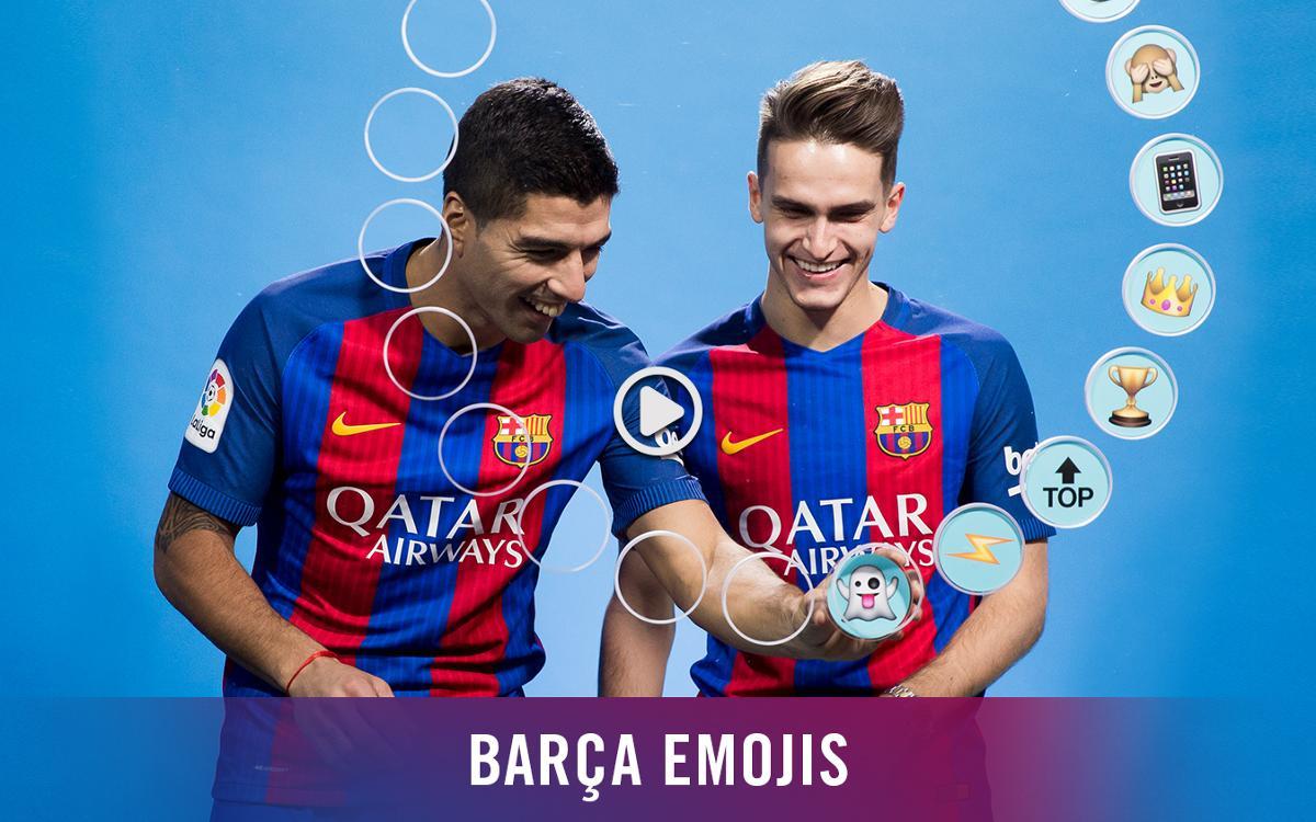Barça emojis: Luis Suárez i Denis Suárez