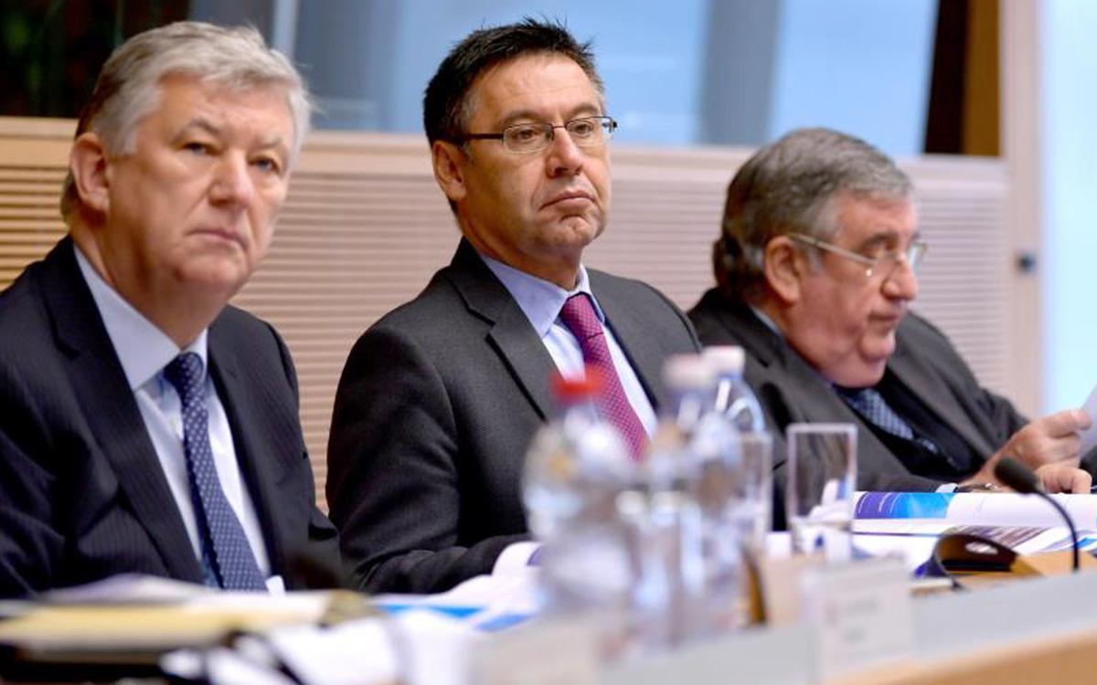Bartomeu, en la reunió del comitè de competicions de Clubs de la UEFA