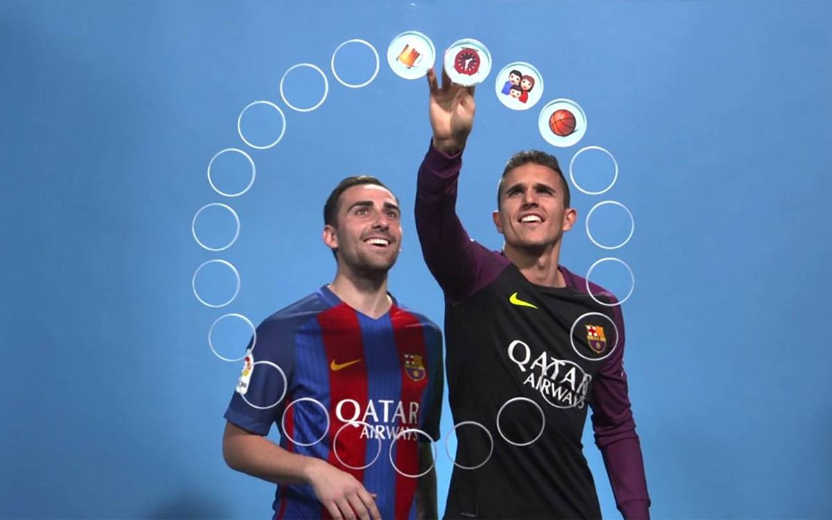 Barça Emojis: Paco Alcácer and Jordi Masip edition