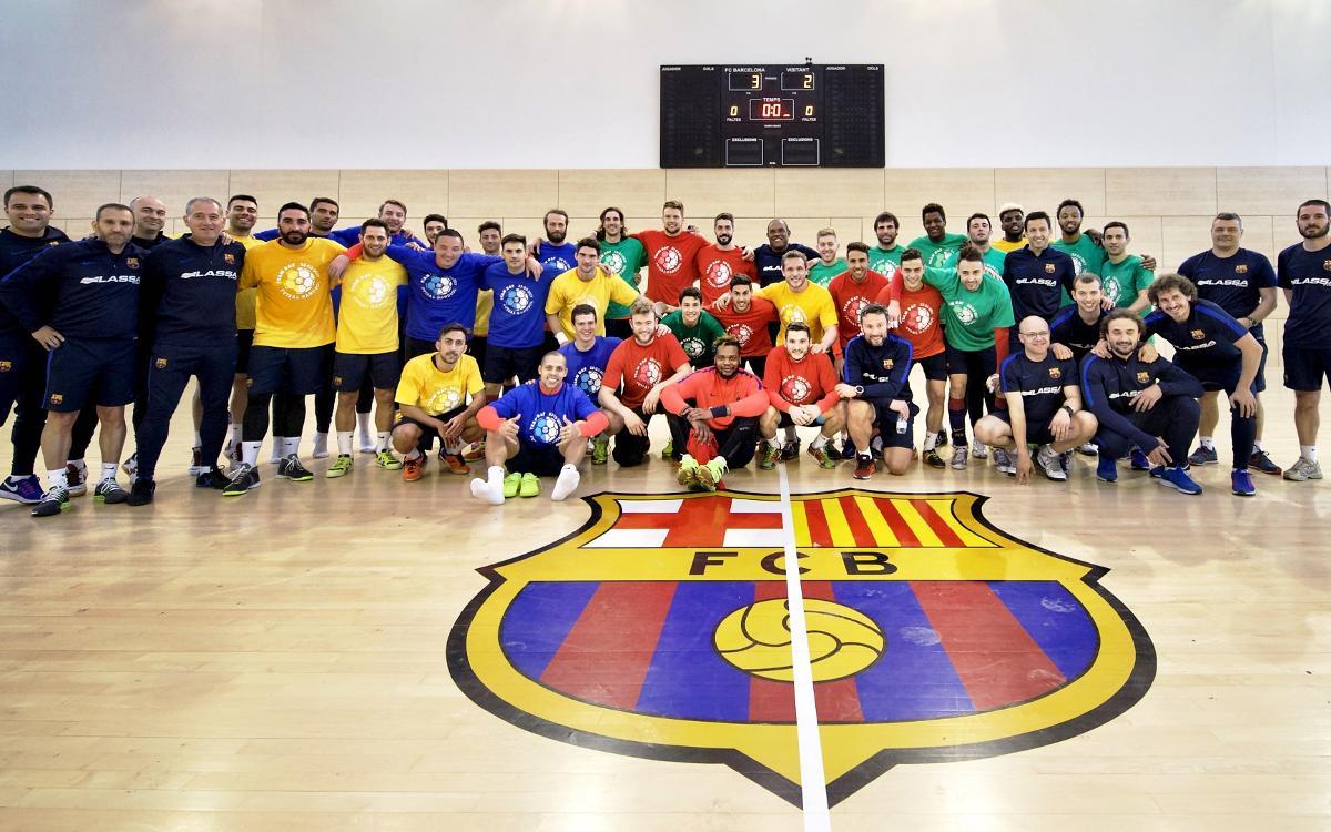 Actividad conjunta de los equipos de balonmano y fútbol sala