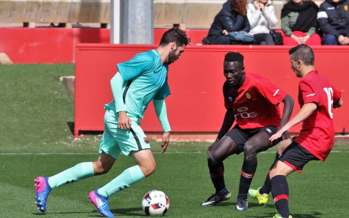 RCD Mallorca - Juvenil A: La falta de acierto pasa factura (2-0)