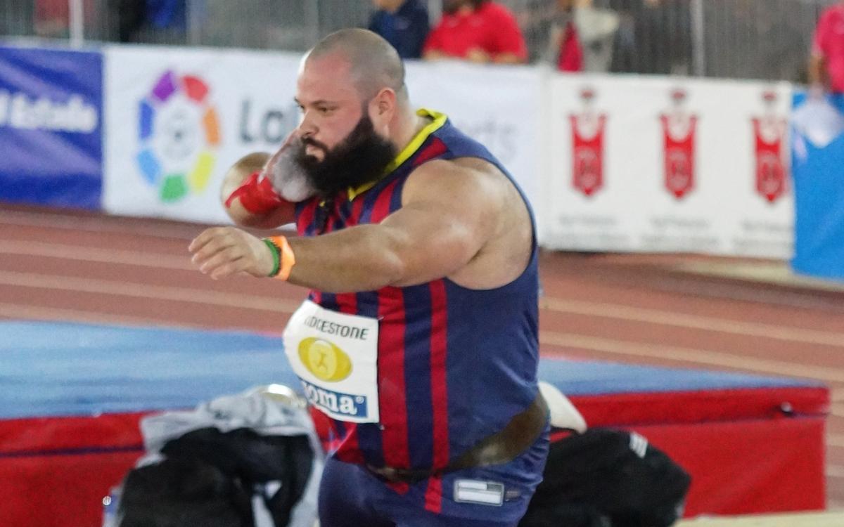Carlos Tobalina, medalla de plata en pes a la Copa d'Europa de llançaments