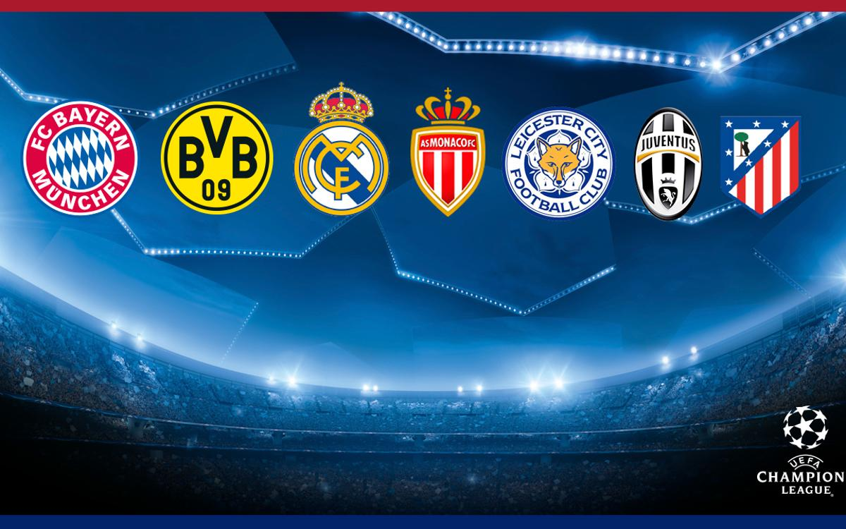 FC Barcelona's seven possible opponents in the Champions League quarter finals