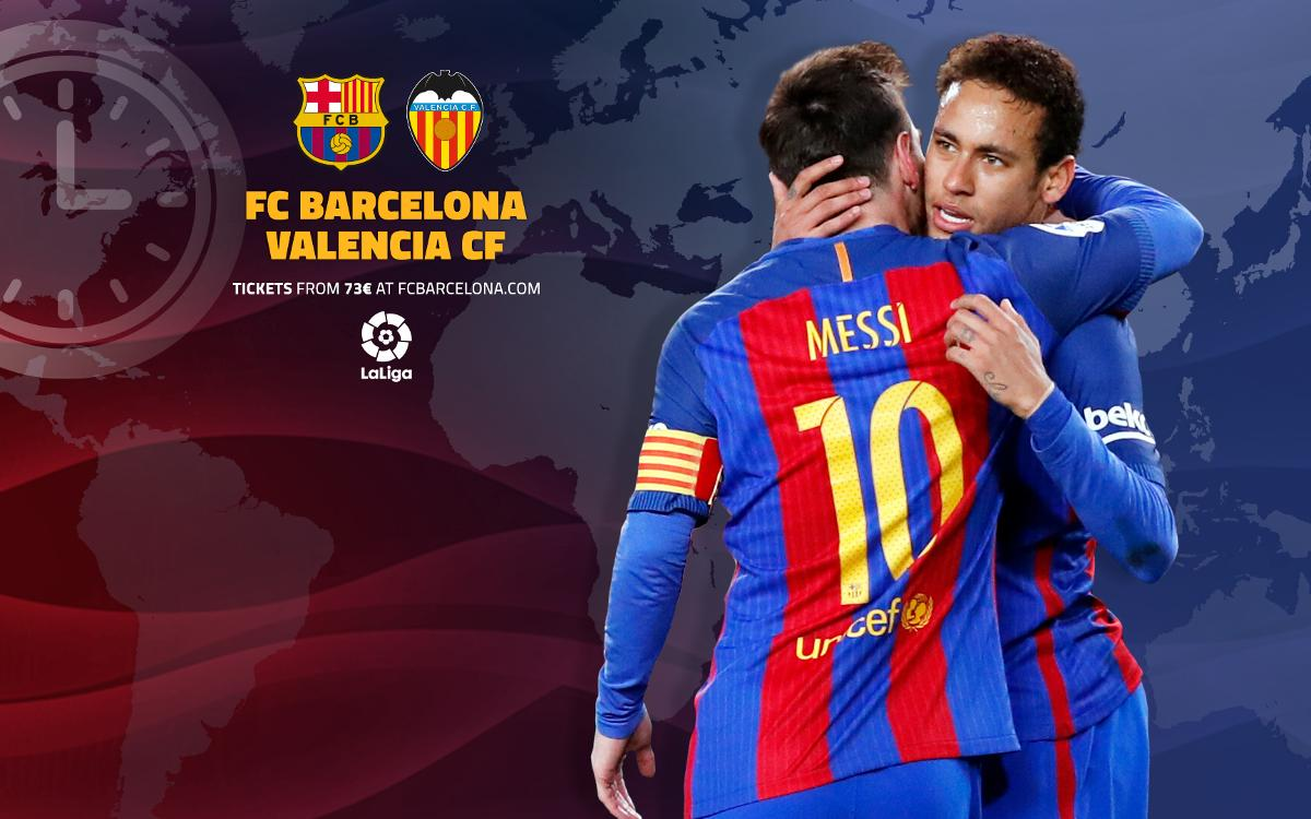 When and where to watch FC Barcelona v Valencia in LaLiga