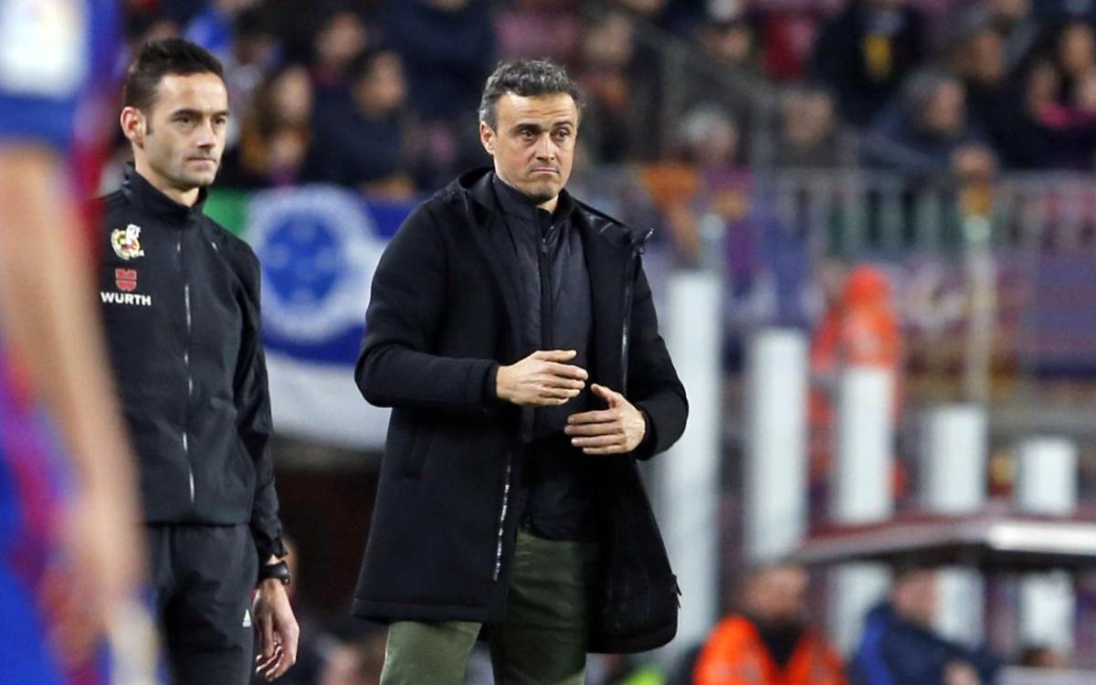 Luis Enrique: 12 de 12 en eliminatorias de la Copa del Rey