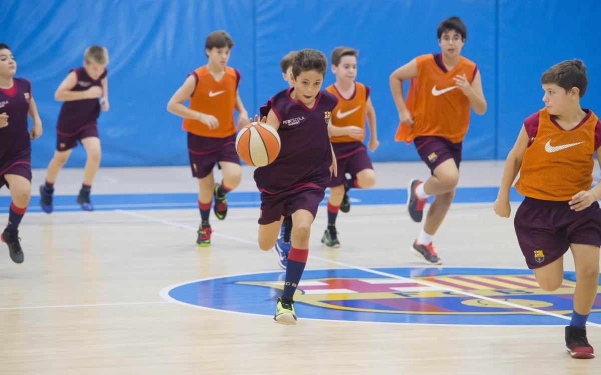 Obertes les inscripcions per a les proves de l'FCBEscola Basket Barcelona