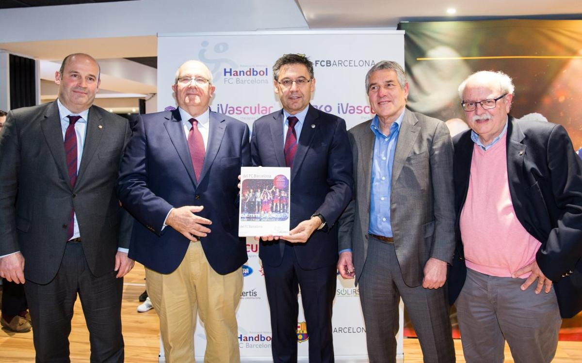 Presentado el libro 'Historia del balonmano del FC Barcelona'