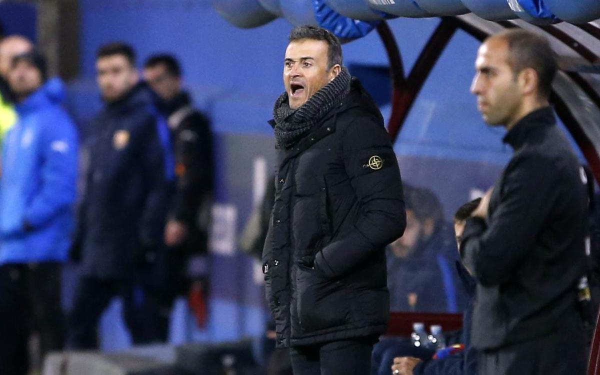 Luis Enrique: The first half of the season has been positive