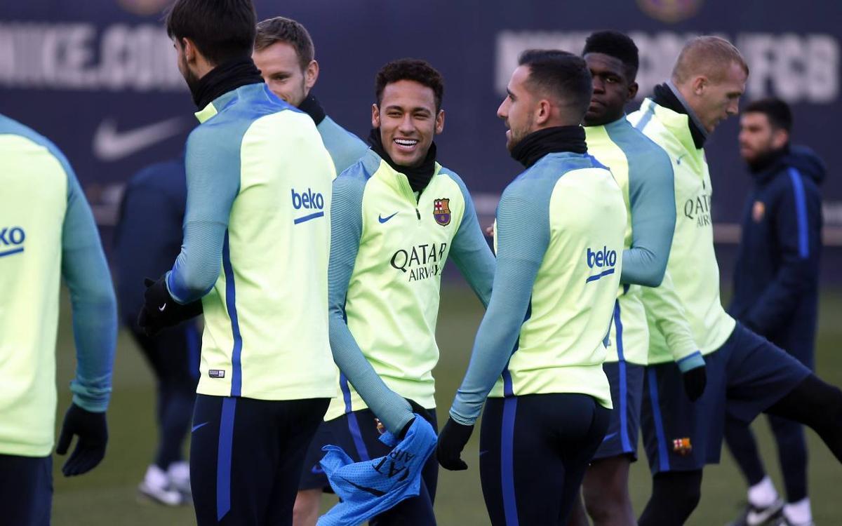 El plan de entrenamientos para afrontar las semifinales de la Copa y el partido de Liga con el Athletic