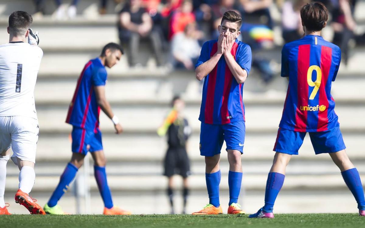 Juvenil A – Girona FC: El larguero evita la victoria azulgrana (0-1)