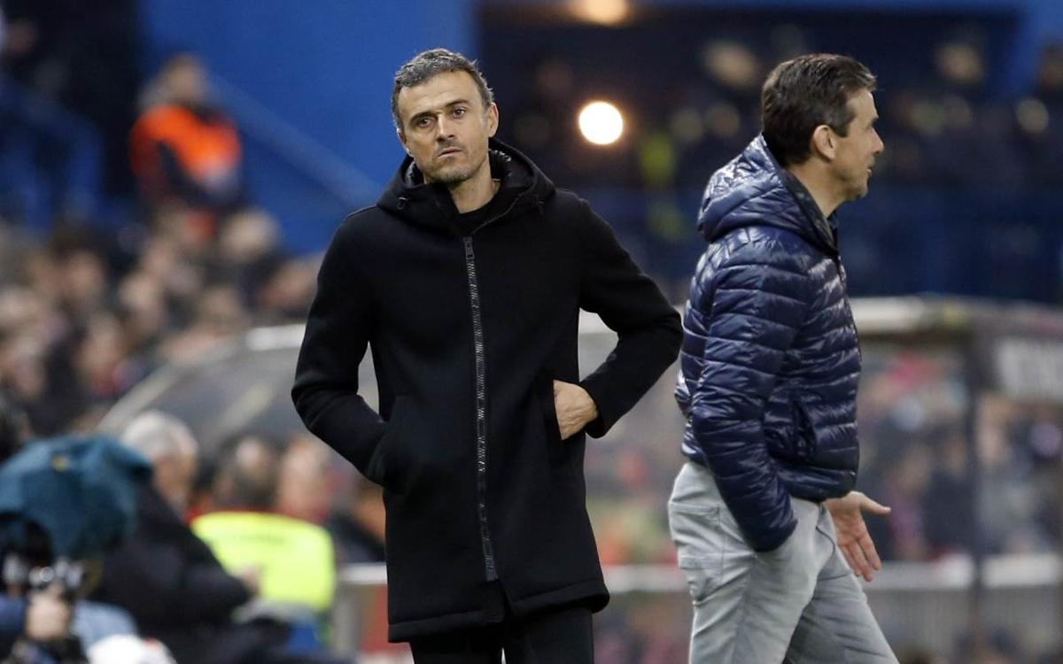 Luis Enrique: 'Magnificent result from a difficult match'