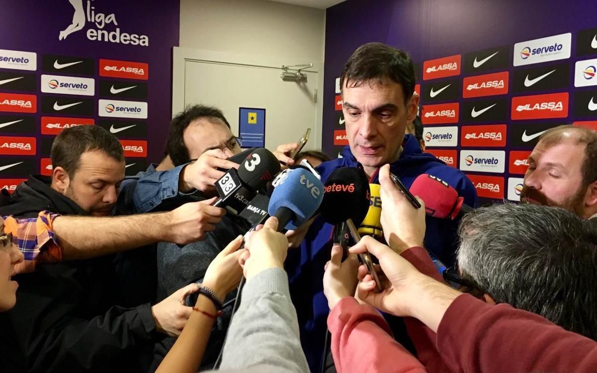 """Bartzokas: """"Estem preparats mentalment per afrontar el partit davant el Milà"""""""