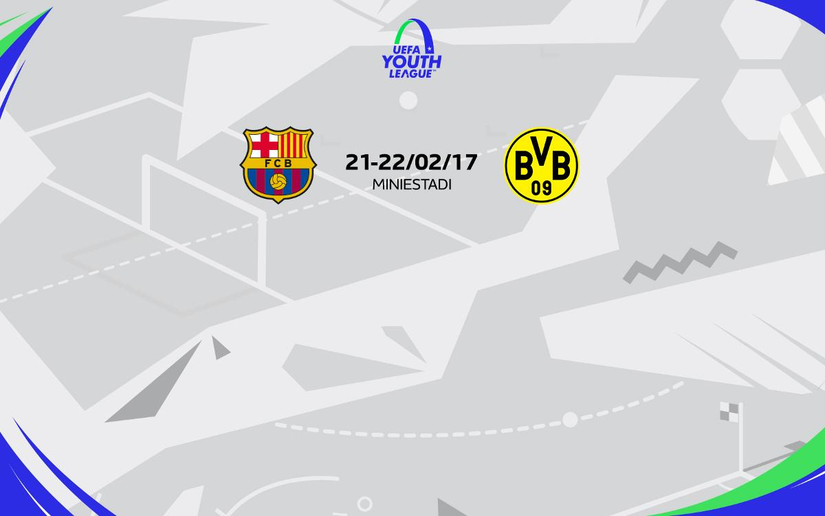 FC Barcelona U19A to face Borussia Dortmund in UEFA Youth League