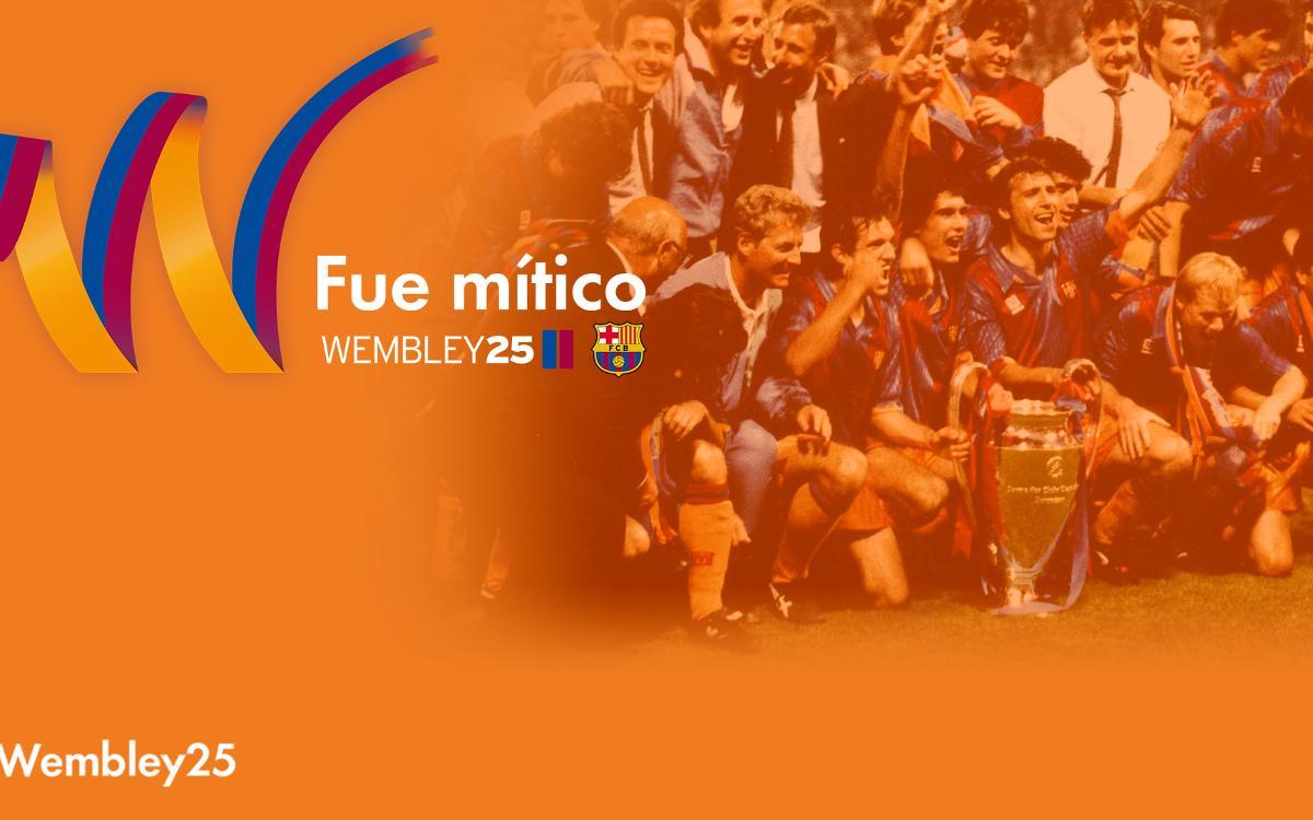 El Barça invita a los socios y aficionados a participar en los actos de conmemoración del 25 aniversario de Wembley