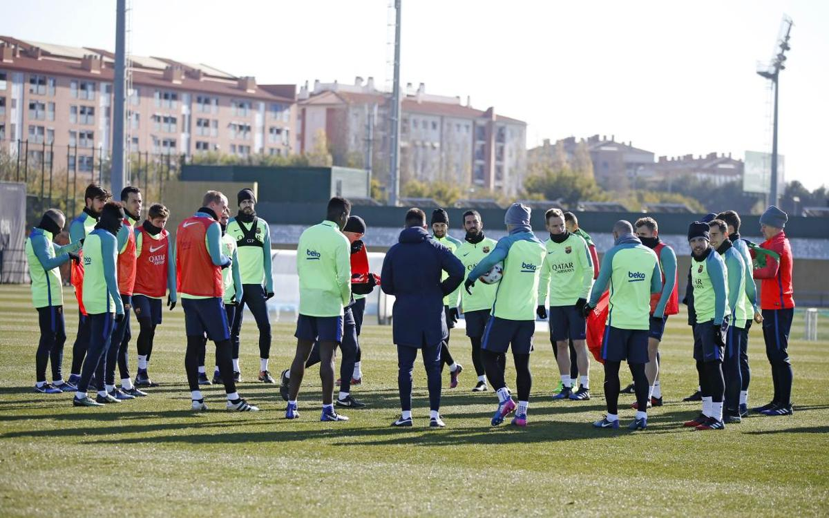 Training schedule for a double gameweek at Camp Nou