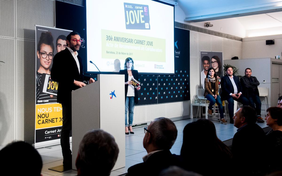 Reconeixement al Barça pel seu paper d'entitat col·laboradora del Carnet Jove