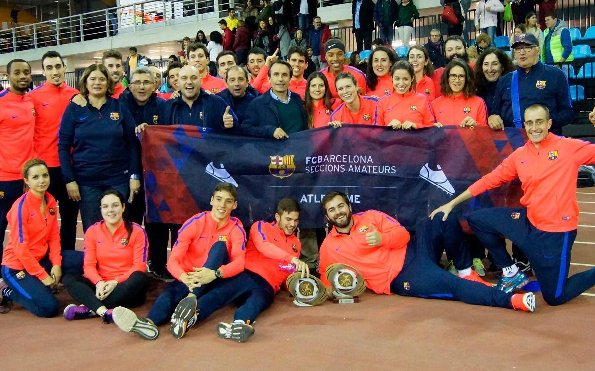 El FC Barcelona lidera el medallero del Campeonato de España indoor