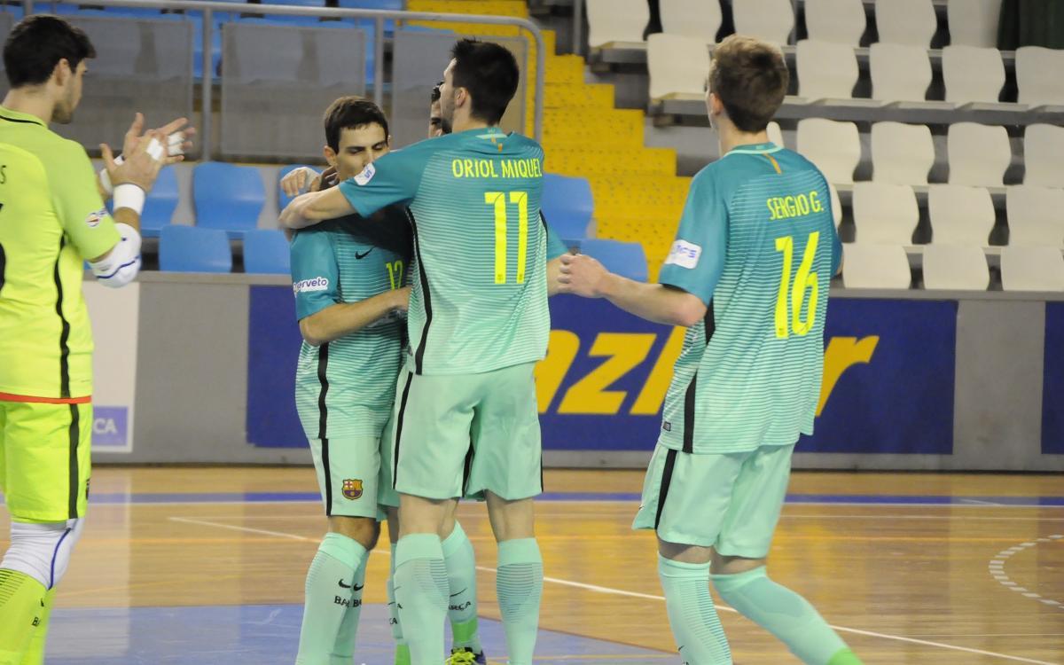 El Barça B és més líder després de la victòria a Lugo (2-7)