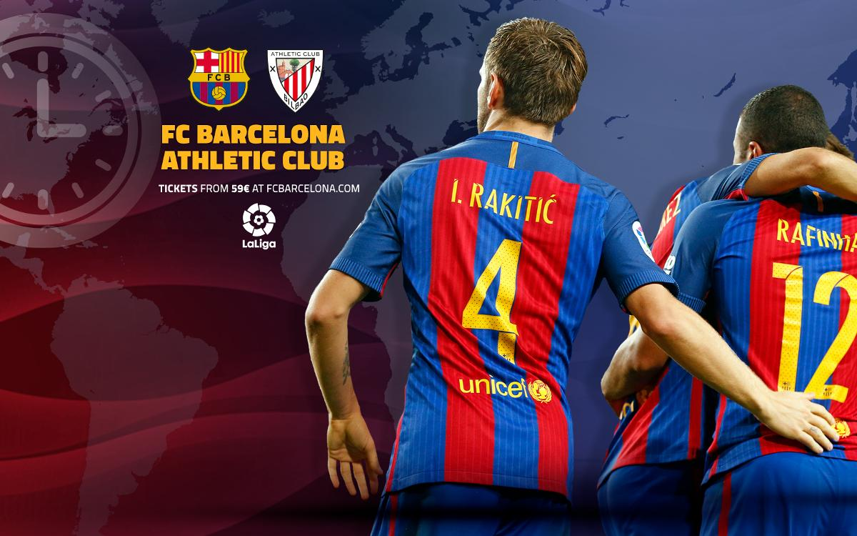 When and where to watch FC Barcelona v Athletic Club in Liga action