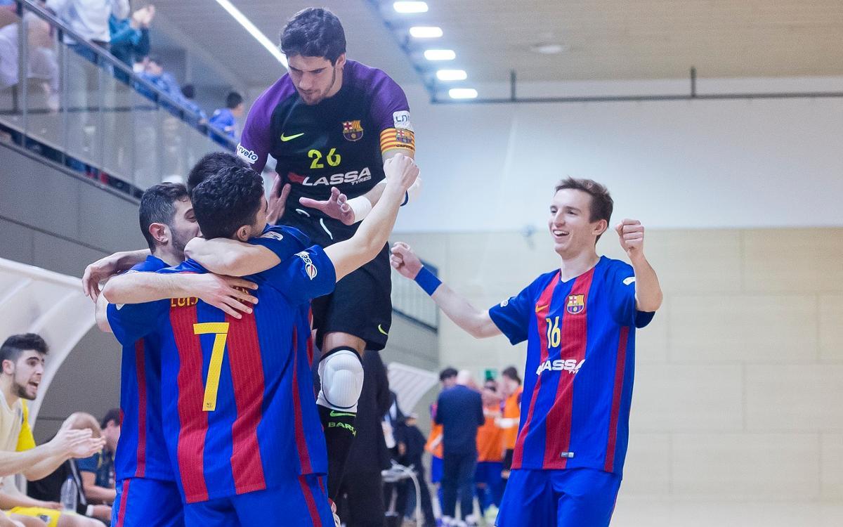 Victòria treballada del filial davant Narón (3-0)