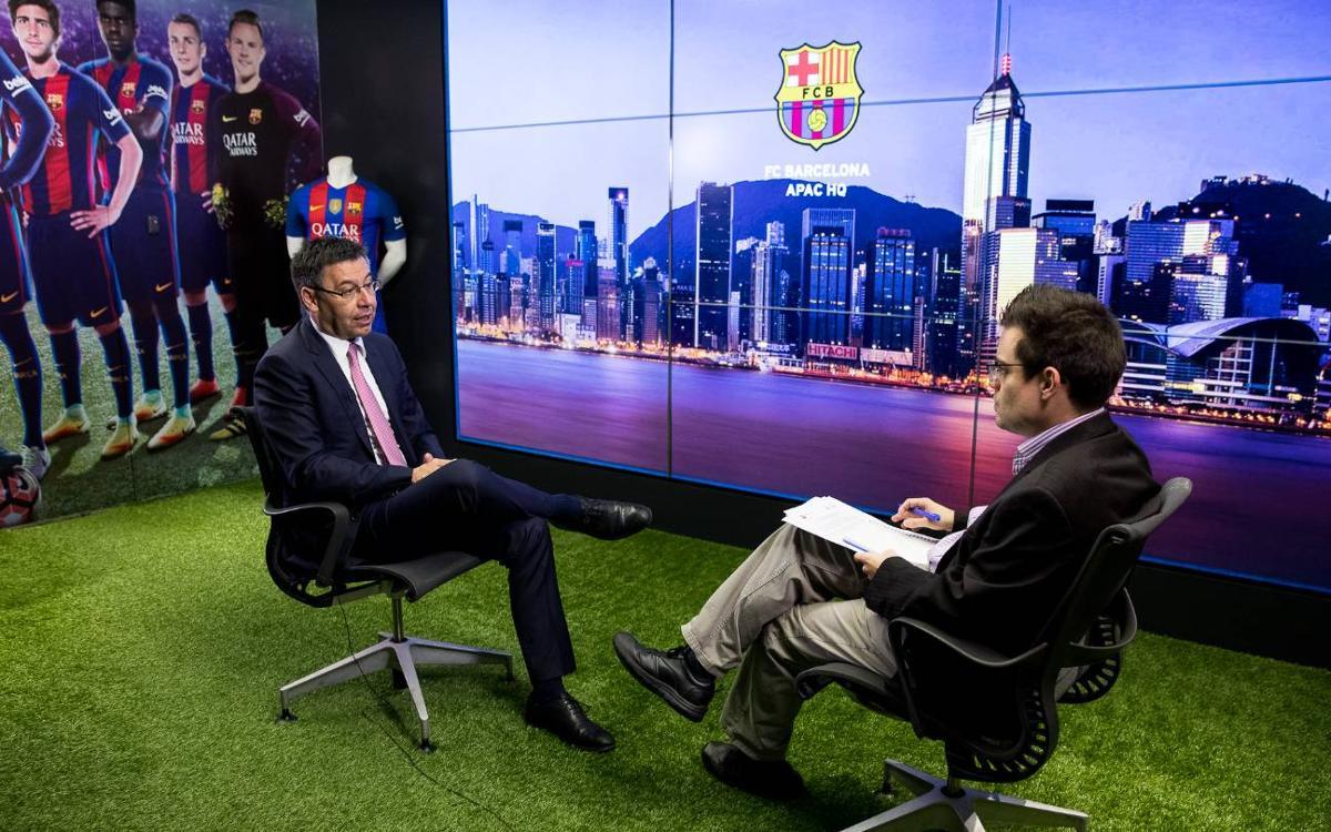 Josep Maria Bartomeu visita l'oficina de Hong Kong