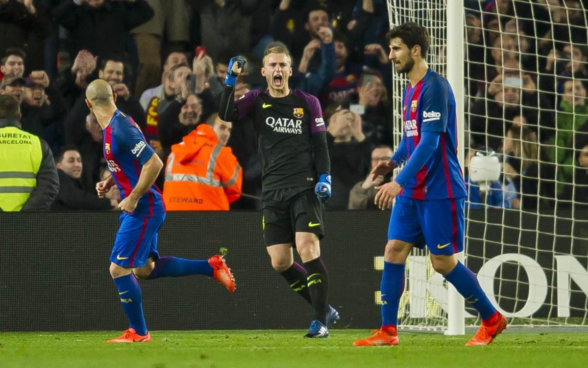 Cillessen, clave en la eliminatoria contra el Atlético de Madrid