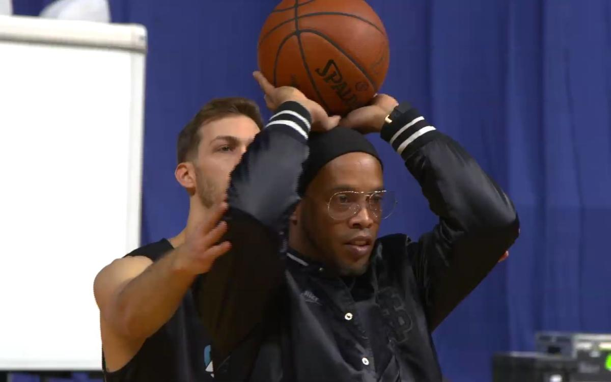 VIDEO: Ronaldinho up with the best at NBA All Star Weekend