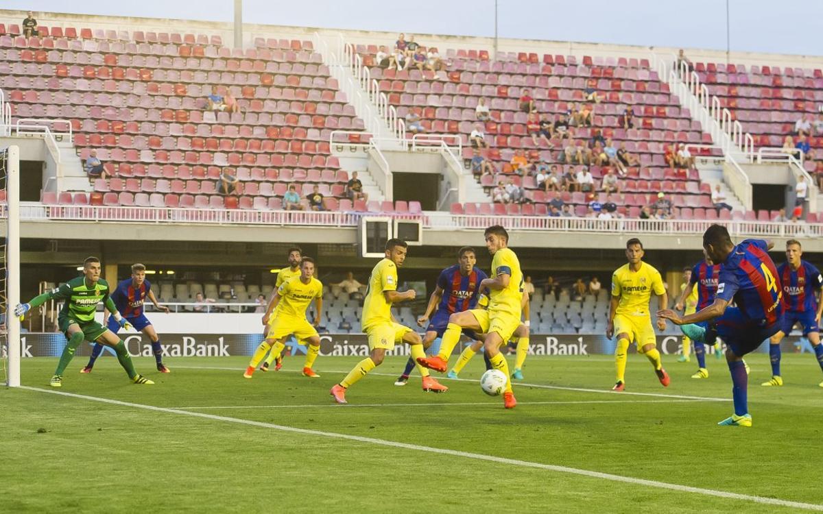 El Barça B, un especialista a balón parado