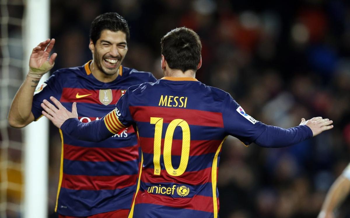 Un año del penalti indirecto ejecutado por Leo Messi y Luis Suárez
