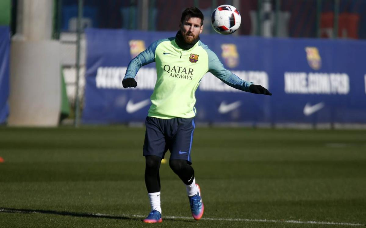 Final training session before Copa del Rey second leg