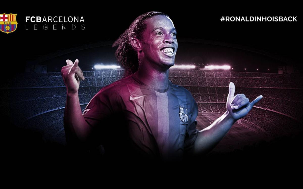 ロナウジーニョがFCバルセロナの新大使に