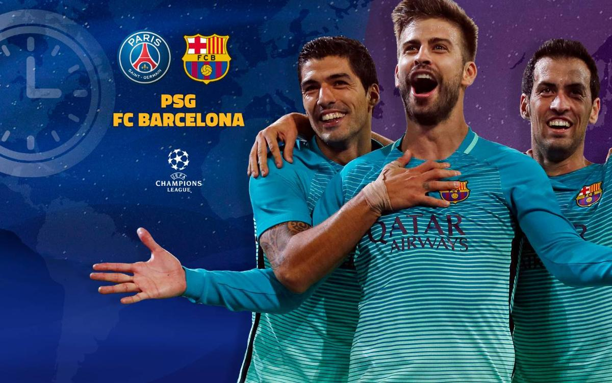 When and where to watch Paris Saint-Germain v FC Barcelona