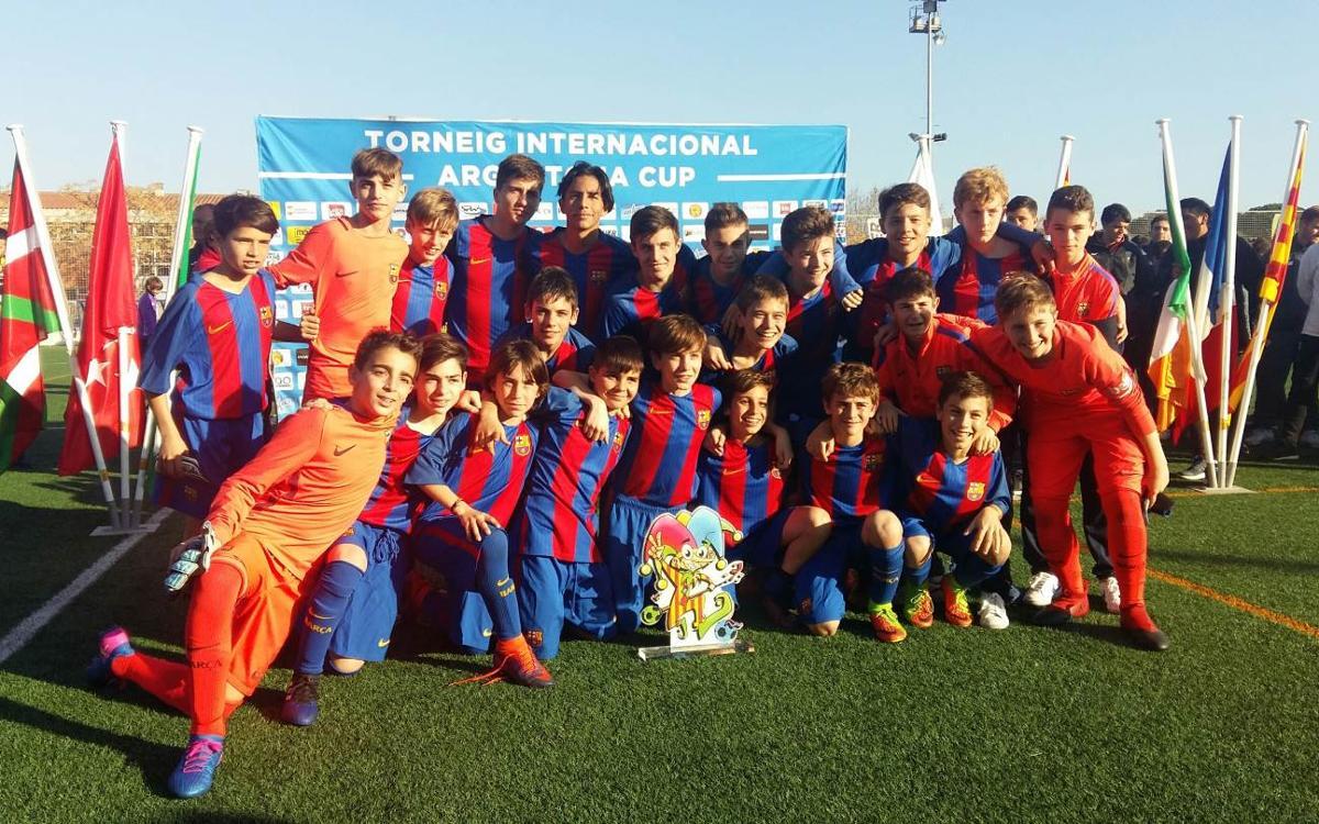 El Infantil B gana la Argentona Cup